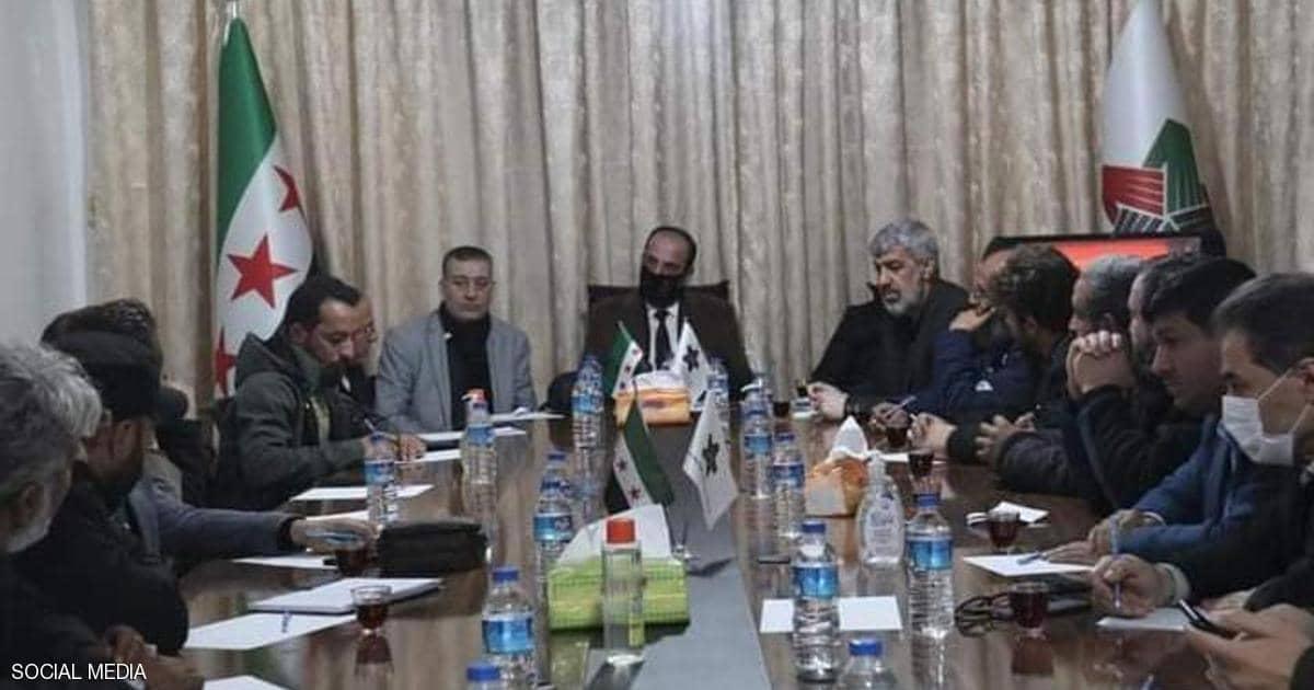 أبو حاتم شقراء زعيم أحرار الشرقية في إجتماع مع الائتلاف السوري